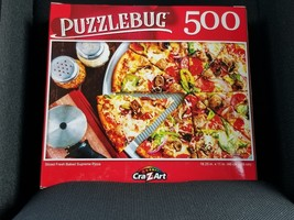 Cra-Z-Art Puzzlebug 500 Piece Puzzle - Sliced Fresh Baked Supreme Pizza