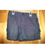 Faded Glory Baby Clothes 5T Toddler Girl Shorts Navy Denim Jeans Pull-up... - $9.49
