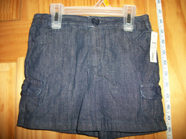 Faded Glory Baby Clothes 4T Toddler Girl Shorts Navy Denim Jean Pull-up Bottoms - $8.54