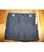 Faded Glory Baby Clothes 4T Toddler Girl Shorts Navy Denim Jean Pull-up ... - $8.54