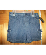 Faded Glory Baby Clothes 5T Toddler Girl Shorts Blue Denim Jeans Pull-up... - $8.54
