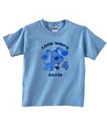 Blues Clues Personalized Light Blue Birthday Shirt - $16.99+
