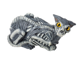 Haunted Zombie Cat Halloween Prop Haunted House Skull Skeleton Zombie De... - €19,34 EUR