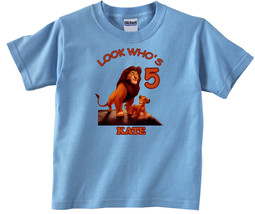 Lion King Personalized Light Blue Birthday Shirt - $16.99+
