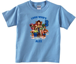 Toy Story Personalized Light Blue Birthday Shirt - $16.99+