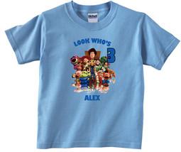 Toy Story Personalized Light Blue Birthday Shirt - $16.99+
