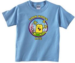 Wow Wow Wubbzy Personalized Light Blue Birthday Shirt - $16.99+