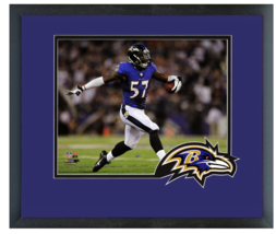 C.J. Mosley 2014 Baltimore Ravens - 11 x 14 Team Logo Matted/Framed Photo - $42.95