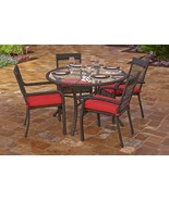Northcape 5-Piece Beacon Cappuccino Wicker Outdoor Chair Table Set Red C... - $1,488.70