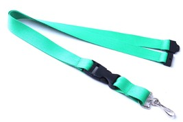 Green Polyester Strap Solid Color Breakaway Lanyard Id Badge Mobile Key ... - $6.99