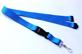 Turquoise Polyester Strap Solid Color Breakaway Lanyard Id Badge Key Holder - $6.99