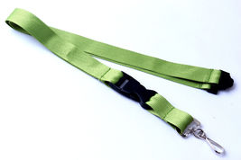 Lime Green Polyester Strap Solid Color Breakaway Lanyard Id Badge Key Ho... - $6.99