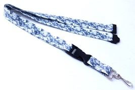 Polyester Strap Gray Camouflage Breakaway Lanya... - $6.99