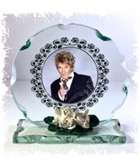 Rod Stewart ' Maggie May ' Cut Glass Round Plaque Limited  Edition |7 - $32.44