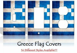 Greece Flag Greek Athens Country Light Switch Covers Home Decor Outlet - $6.92+