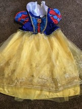 Disney Store Princess Snow White Costume Dress Size  XXS 2-3 Pleated Collar - $24.74