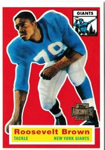 2001 Topps Archives Roosevelt Brown Football Trading Card #68 Giants - $1.97