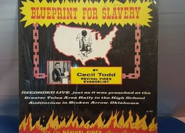 1975 Blueprint For Slavery Revial Sermon Cecil Todd Lp Record - £15.35 GBP
