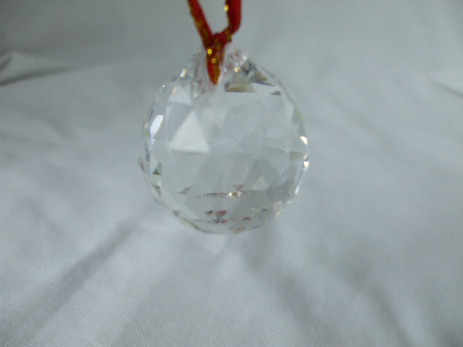 FENG SHUI Clear hanging Crystal Ball Sphere Prism Healing Sun Catcher