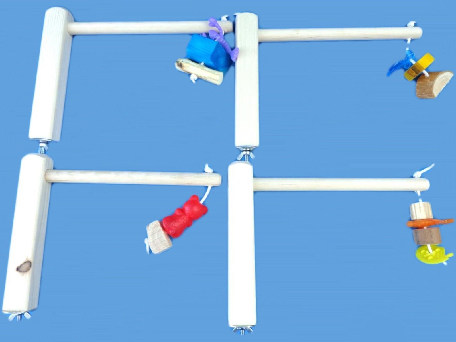 4- cage top bird perches for small and medium birds