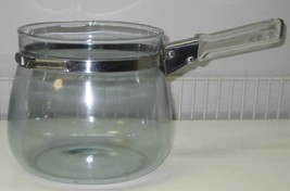Vintage Pyrex Flameware Glass Double Boiler BOTTOM ONLY Blue Tint - $50.00