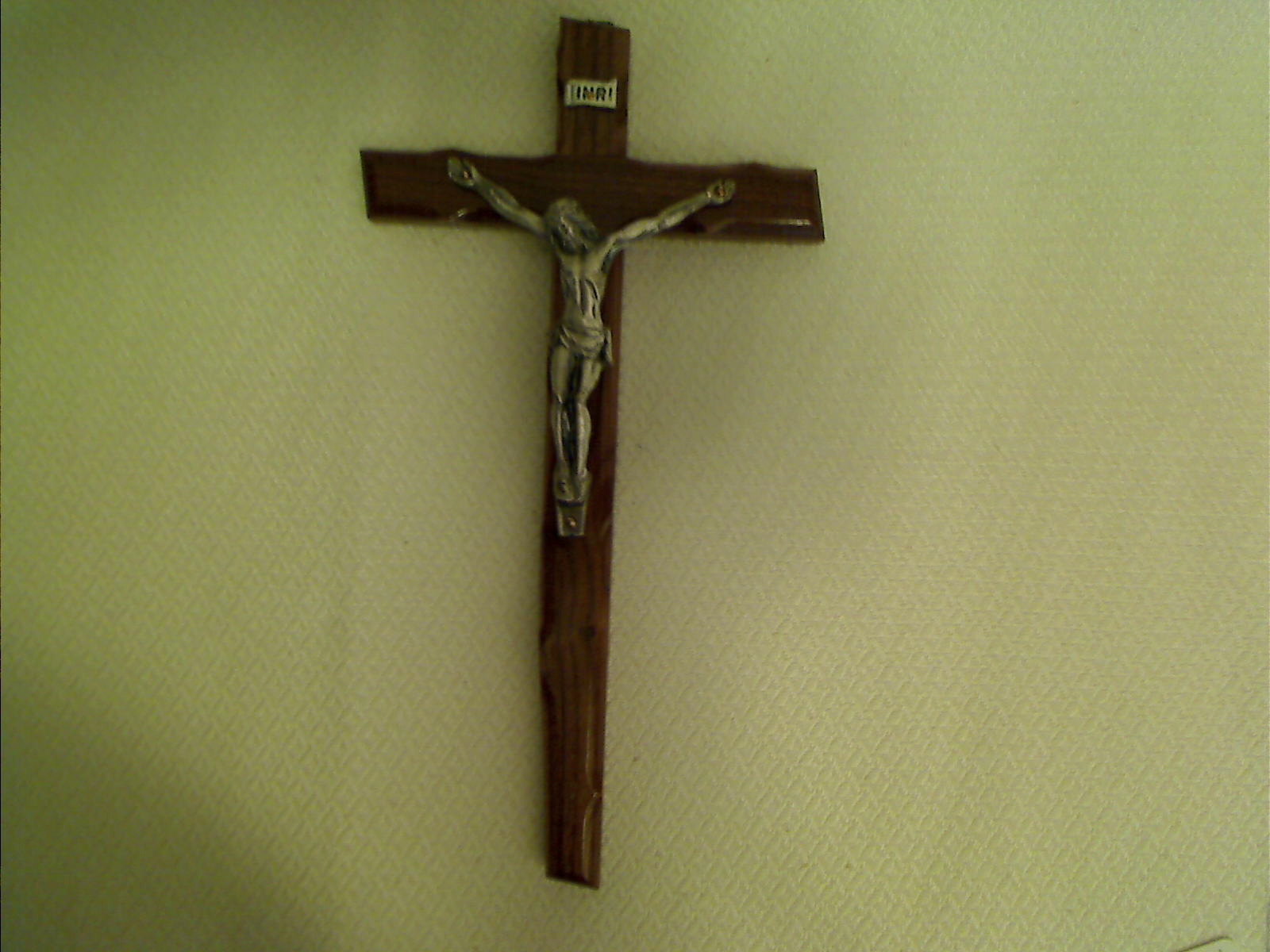 Moshy a4 15 inch  brown wood cross with silver body