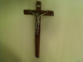 Moshy a4 15 inch  brown wood cross with silver body thumb200