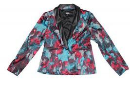 KENSIE Multicolor Artistic Floral Print Blazer - Black Combo - medium - $58.79