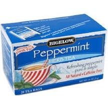 Bigelow Peppermint Herbal Tea 20 Tea Bag Box - $8.90