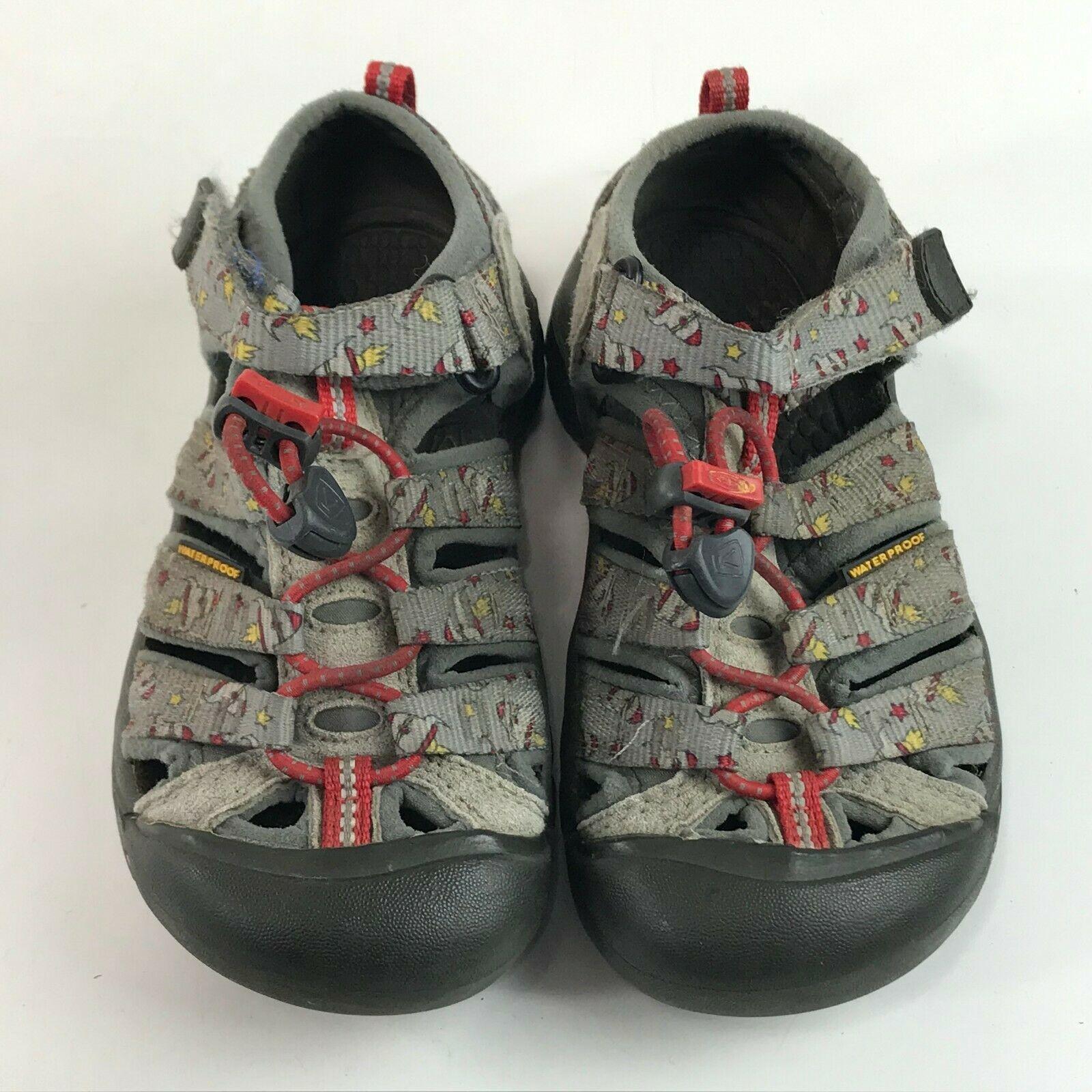 Keen Toddler Boy Girls Newport H2 Sandals Size 12 Gray Rockets Play Waterproof