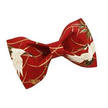 Men Bow Tie Polyester Neckties Chinese Style Red Crown Crane Wedding Bow Tie