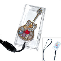 Bling Guitar Crystal Hard case for ipod Nano 7th Gen 7G + Detachable Strap - $7.83