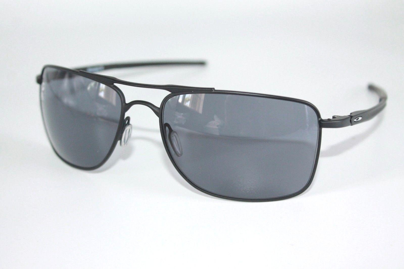 Oakley Gauge 8 Sunglasses OO4124-01 Matte Black Frame W/ Grey Lens