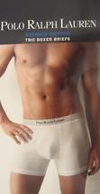2 Ralph Lauren Polo White 100% Refined Cotton Boxer Briefs Underwear - S M L Xl - $23.40