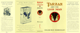 Burroughs, Edgar Rice. TARZAN AND THE LION MAN facsimile dust jacket  1s... - $21.56