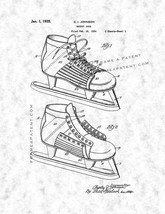 Hockey Shoe Patent Print - Gunmetal - $7.95+