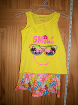 Fashion Gift Healthtex Baby Clothes 12M Infant Girl Skort Outfit Yellow ... - $14.24