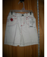 Riders Baby Clothes 12M Infant White Denim Jeans Shorts Girl Jamie Lee B... - $8.54