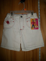 Riders Baby Clothes 4T Toddler White Denim Jeans Shorts Girl Jamie Lee Bottoms - $8.54