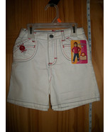 Riders Baby Clothes 4T Toddler White Denim Jeans Shorts Girl Jamie Lee B... - $8.54