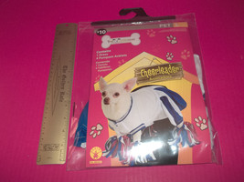 Rubies Pet Holiday Costume Large Dog Cheerleader Outfit Red White Blue Pompoms - $9.49