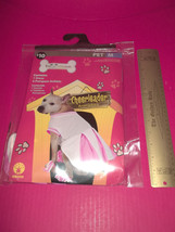 Rubies Pet Costume Dog Cheerleader Outfit Medium Pink White Dress Set Po... - $9.49