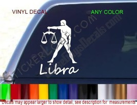 Libra Decal Zodiac STICKER ANY COLOR Astrology car truck decals stickers NEW - $8.52