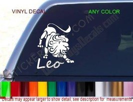 Leo Lion Decal Zodiac STICKER ANY COLOR Astrology car truck decals stickers NEW - $9.52
