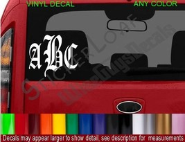 Monogram Decal Initials STICKER Name ANY COLOR car truck decals stickers NEW - $5.93