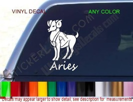 Aries Decal Zodiac STICKER ANY COLOR Astrology car truck decals stickers NEW - $8.52