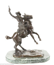 """""""Smoking Up"""" Collectible Solid Bronze Sculpture Statue By C. M. Russell - $1,299.99"""
