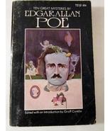 Ten Great Mysteries by Edgar Allan Poe 1970 Paperback Groff Conklin - Freebie