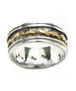 Gerochristo 2379 -Solid Gold & Silver-Byzantine Band Ring with Dolphins ... - $315.00