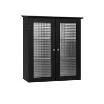 2 Door Wall Cabinet Medicine Bathroom Storage Mount Shelf Tempered Glass... - $103.38